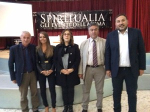 Il sindaco Sperduto con gli assessori Carlucci e Pascale, Franco Rina e David Murgia a Spiritualia.