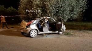 L'auto coinvolta nell'incidente (foto Paese24.it)