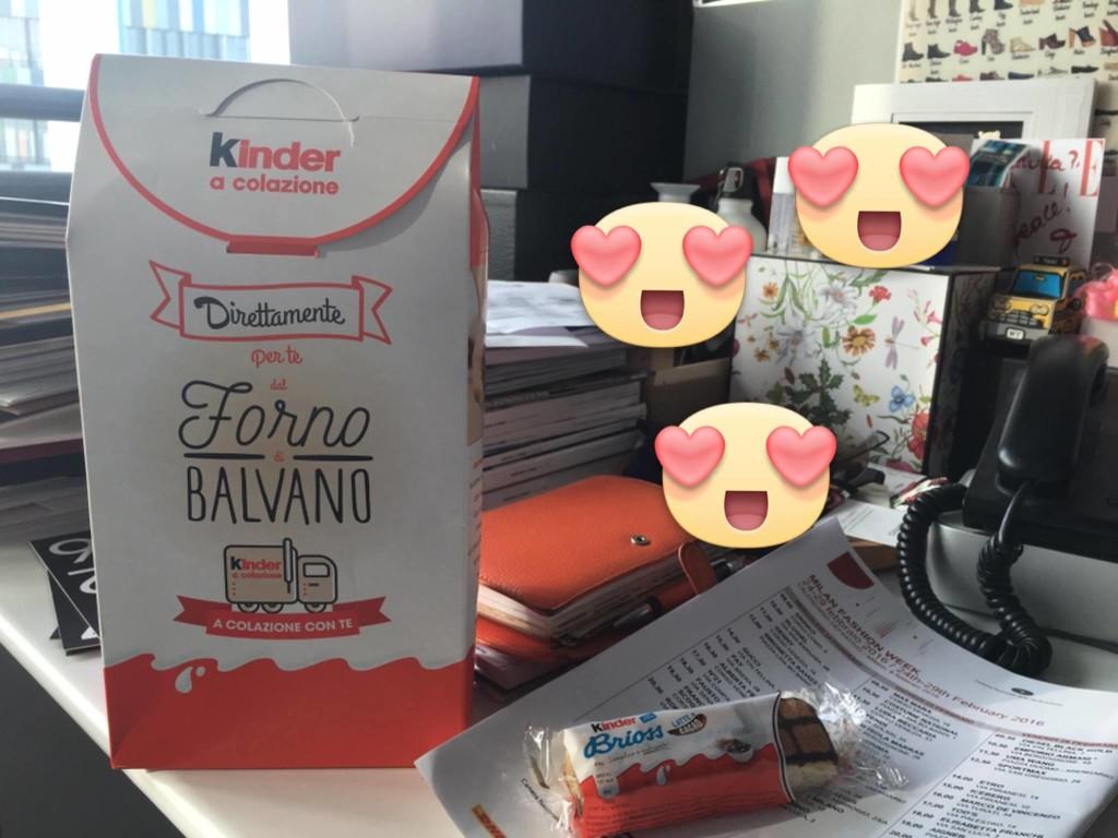 Nella foto di Giulia Pacella, balvanese fuori sede, il regalo della Ferrero
