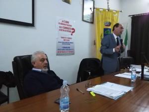 Da sinistra verso destra Vincenzo Felitti e Rocco Carleo durante un incontro