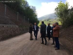 Il presidente Valluzzi ieri sulla Sp12 con i Sindaci