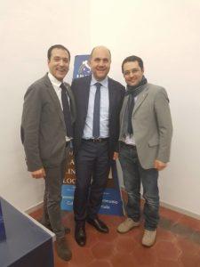 Rocco Franciosa con il Presidente Nazionale Unpli La Spina e il Consigliere De Marco