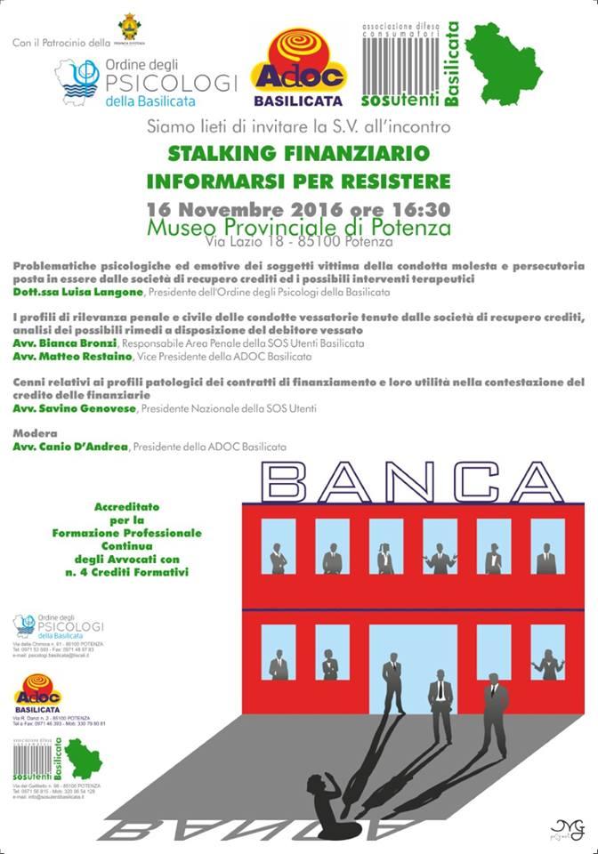 Stalking Finanziario PZ 16-11-16